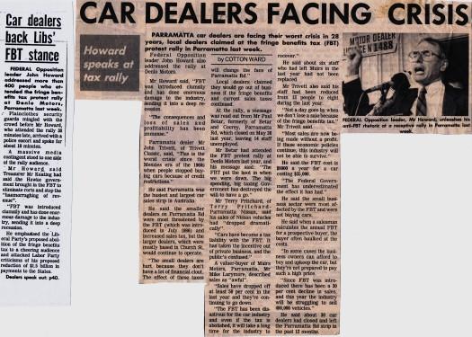 My stories on John Howard - Parramatta Advertiser