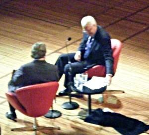 Christopher Hitchens, left, and Tony Jones.